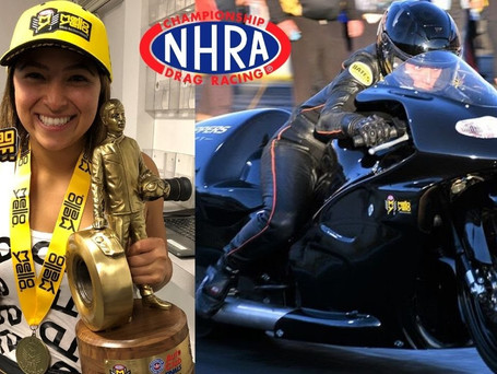 YOUNG FEMALE ROOKIE STUNS PRO STOCK MOTORCYCLE CHAMPS! STORY BEHIND GREATEST DRAG RACING UPSET!