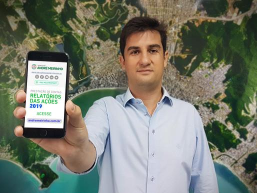 Vereador André Meirinho apresenta o relatório das principais ações de 2019