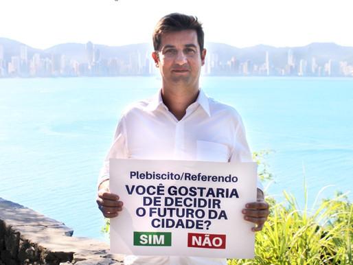Vereador André Meirinho propõe regulamentação de Plebiscito e Referendo em Balneário Camboriú