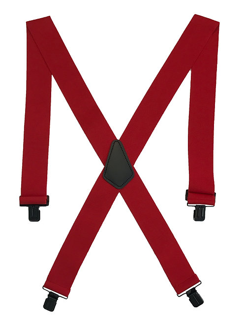 Clip-on Suspenders  - Red