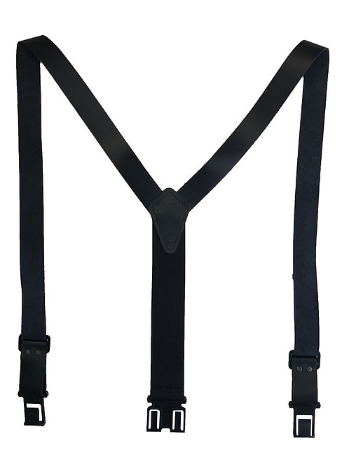 """1 1/2"""" Leather Perry Suspenders - Black"""
