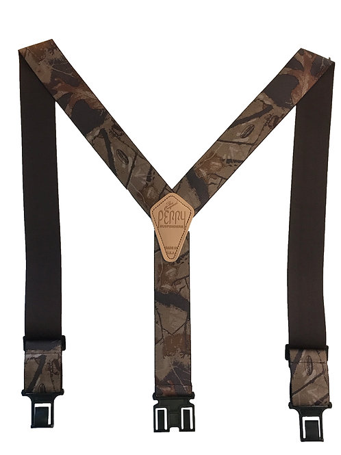 Camoflauge Perry Suspenders - Realtree Hardwood