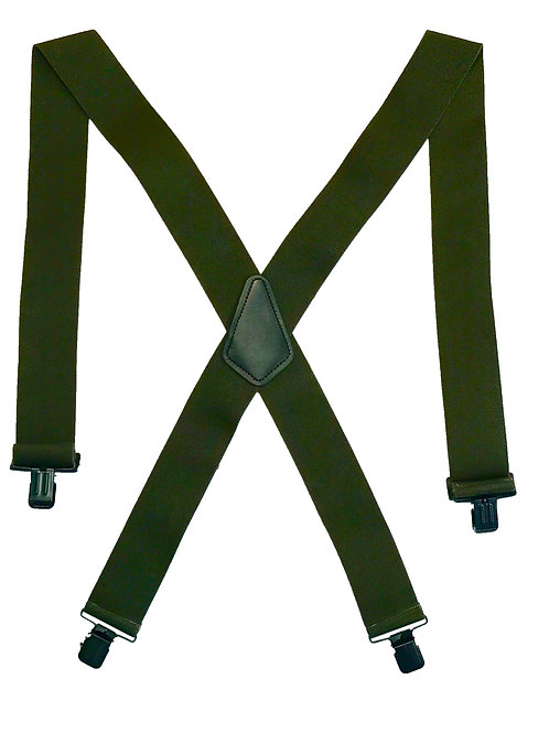 Clip-on Suspenders - Olive Drab