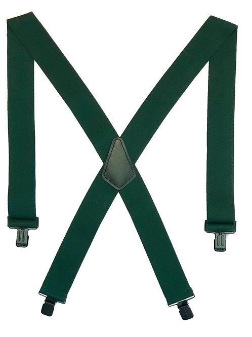 Clip-on Suspenders - Hunter Green