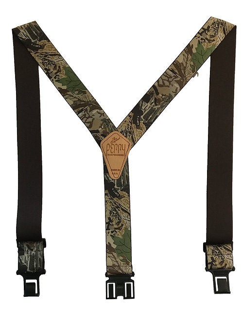 Camoflauge Perry Suspenders - Advantage Timber