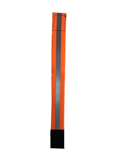 "1 1/2"" Velcro Leg Bands - Orange Reflective"