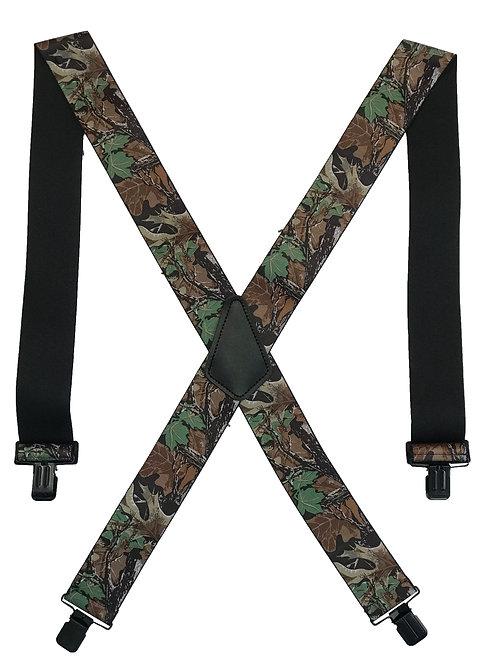 Camo Clip-On Suspenders - Advantage Camo