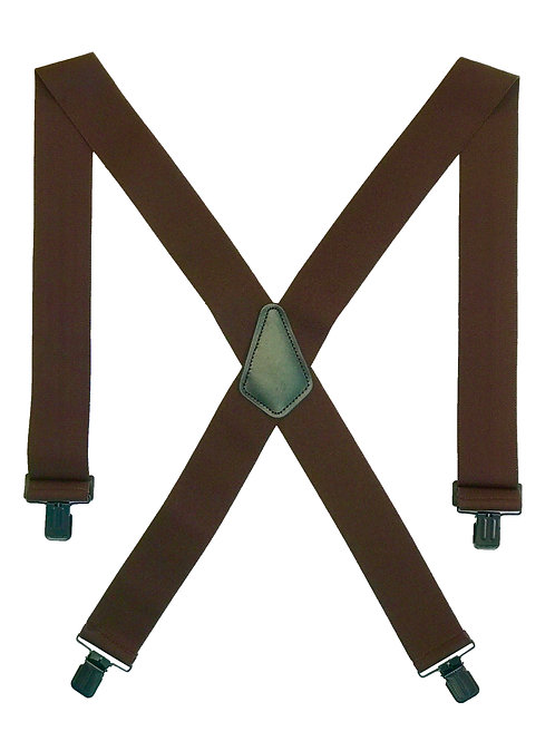 Clip-on Suspenders - Brown
