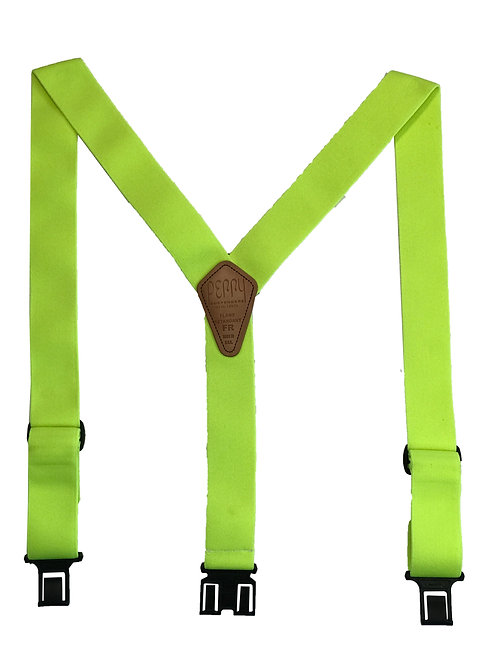 Flame Retardant Perry Suspenders - Lime