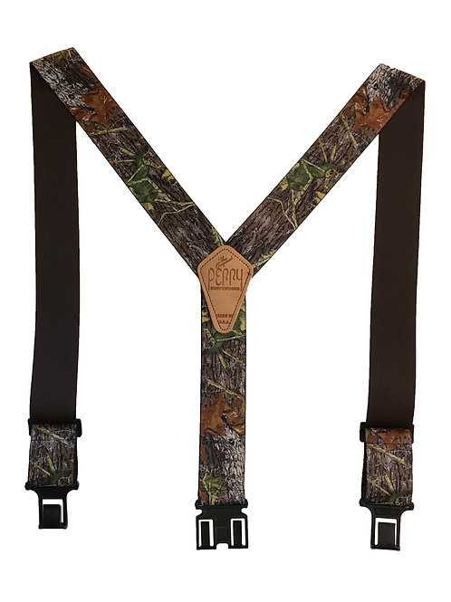 Camoflauge Perry Suspenders - Mossy Oak Break-up