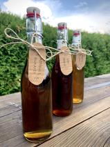 Les sirops artisanaux d'aspérule odorante, de thym serpolet et de menthes du jardin