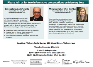 Two Informative Presentations on Memory Loss