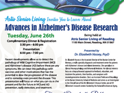 Join Dr. Vassey for a Presentation on the Advances in Alzheimer's Disease Research