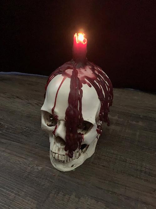 Human Skull imitation & Vampire tear blood candle set