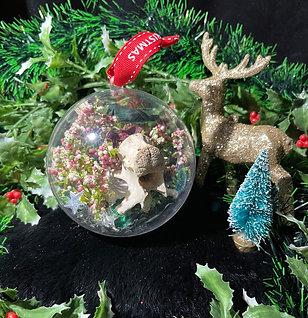 Real bone Christmas ornament