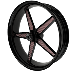 BlackCR1MotorcycleWheelwithRoseGoldInser