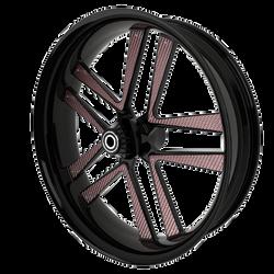 BlackCR5MotorcycleWheelwithRoseGoldInser