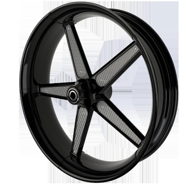 BlackCR1MotorcycleWheelwithSilverInserts