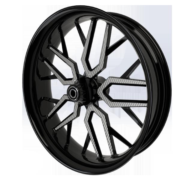 BlackCR4MotorcycleWheelwithSilverInserts