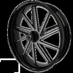 BlackCR2MotorcycleWheelwithSilverInserts