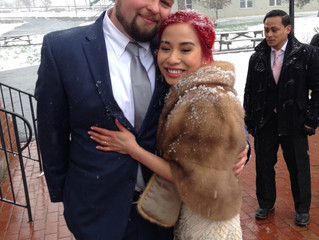 Dee and BJ: A Winter Wedding in April