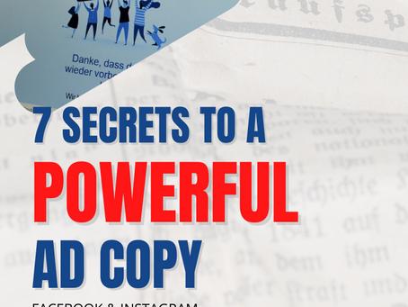 "7 ""Secret"" Strategies To Create A Powerful Facebook Ad Copy"