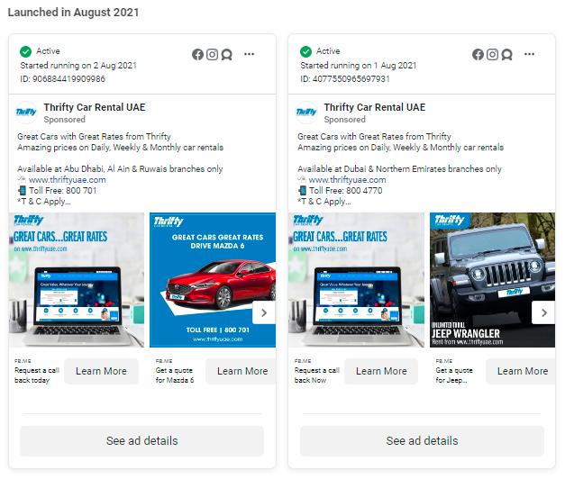 Ads by Thrifty Car Rental UAE