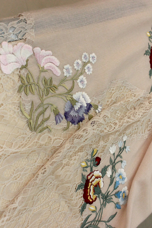 French Botanical Center Panel lace