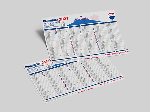 Calendrier 2021 - LOT DE 250