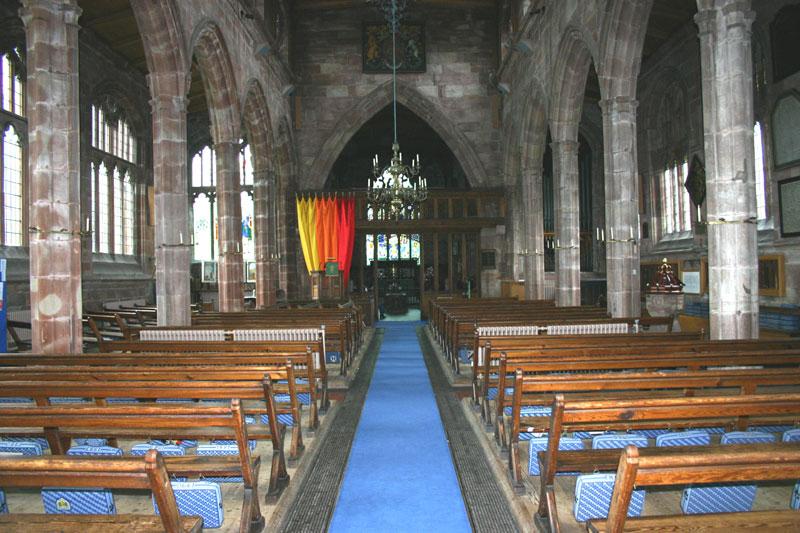 Interior of St Boniface, Bunbury