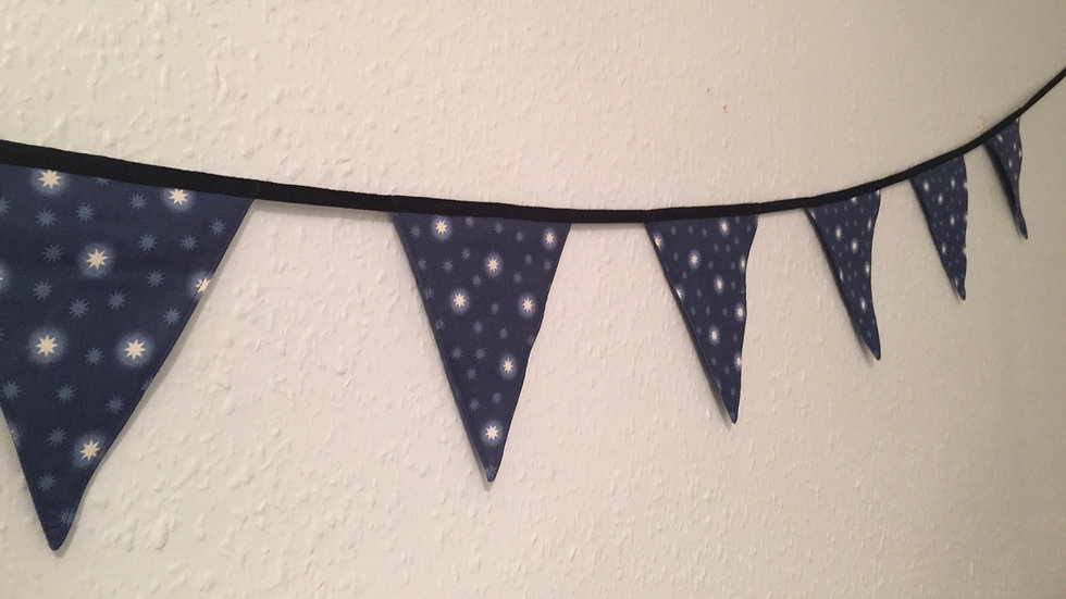 Glow in the dark Navy Star Bunting