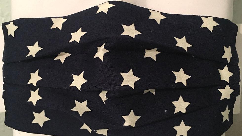 Navy & White Star