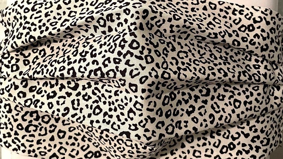 White Mini Leopard Print