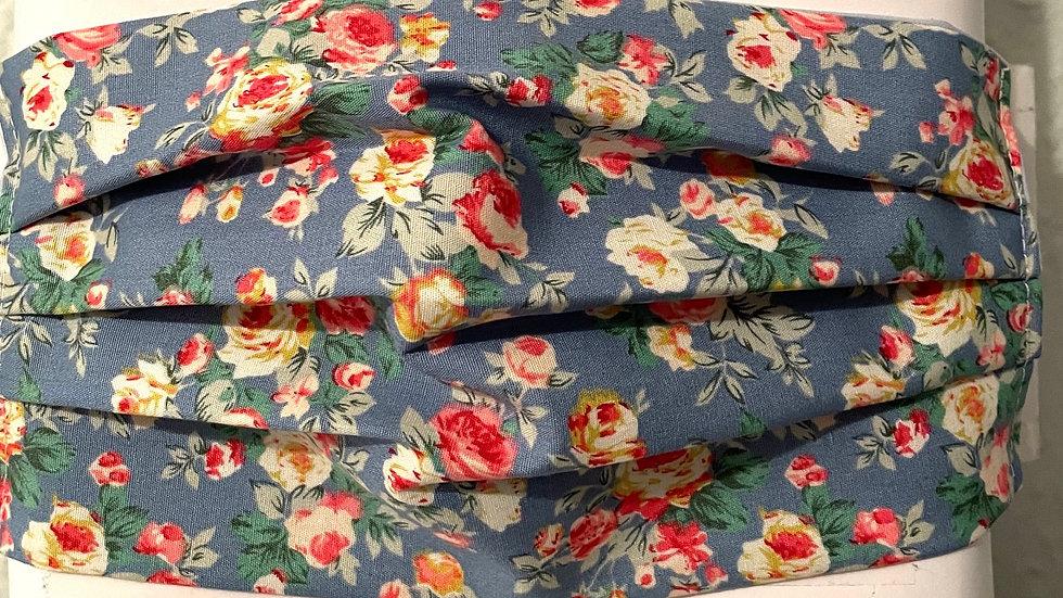 Blue floral rose