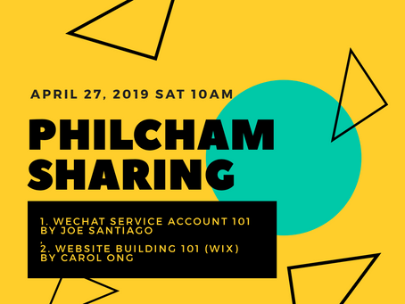 Philcham SHaring: Opening a Wechat Service Account; Building your website