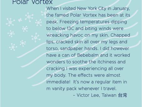 Bebebalm worked wonders during the Polar Vortex in NYC