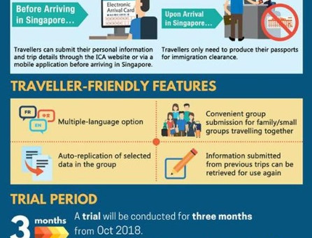 Starting Oct 4, 2018, travelers to SG need to apply for e-arrival card