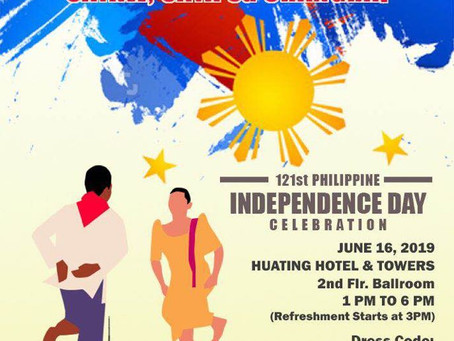 Philcham SH supports the PH Independence Day Celebration. Everyone welcome!