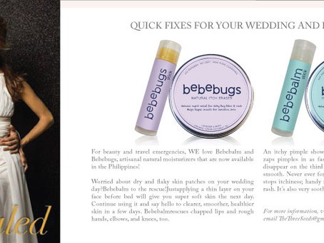 Recommended by Wedding Essentials as Quick fixes for Weddings and Honeymoons