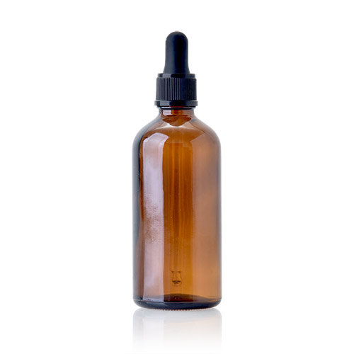100ml Amber Glass Dropper Bottle