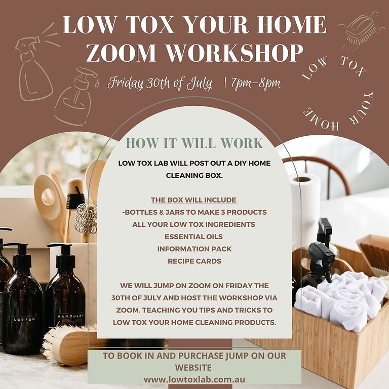 ONLINE - Low Tox Cleaning Workshop (1)
