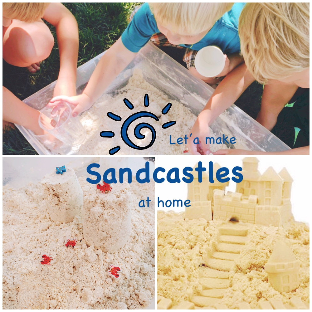 Make sandcastles at home