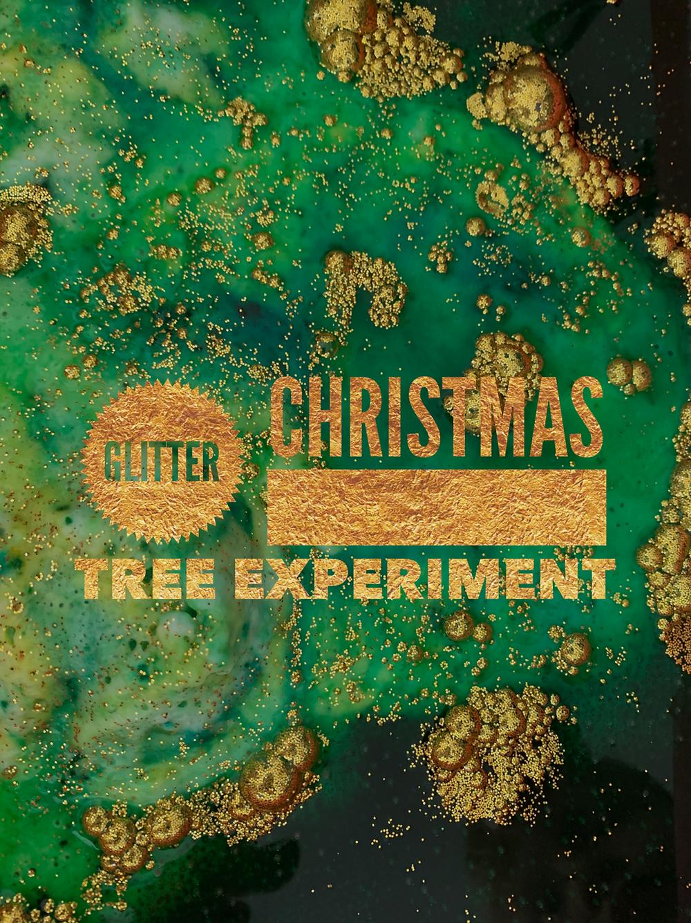 Glitter Christmas Tree Experiment for Kids