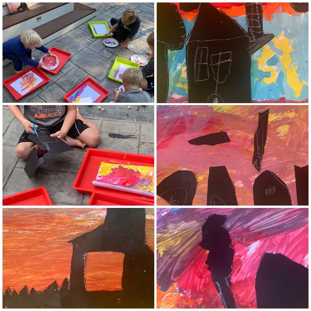 Process art with prek, kindergarten, first grade