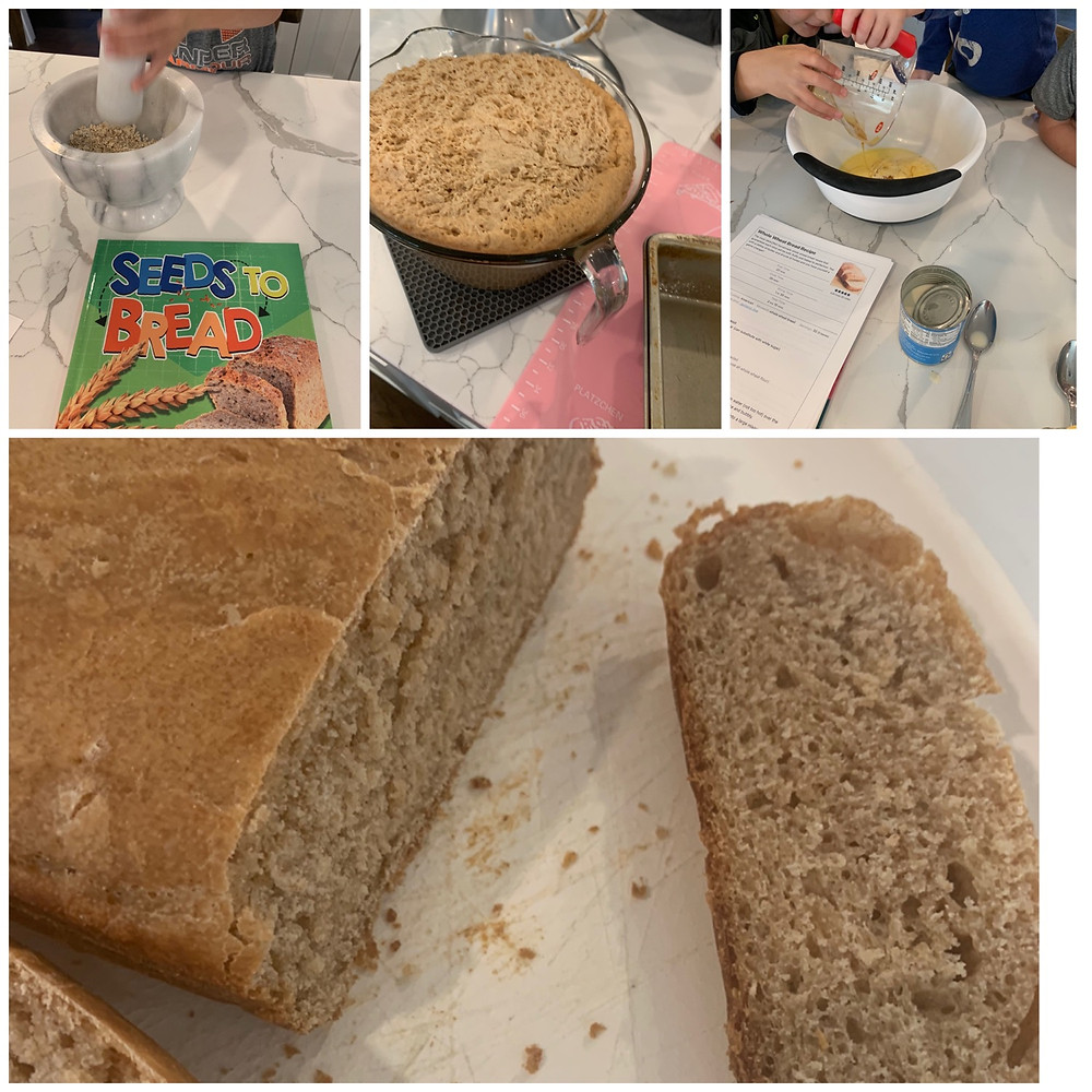 Baking bread with kids