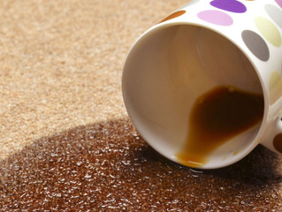 Tips on removing coffee stains from rugs
