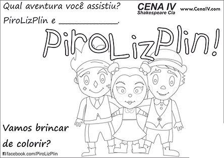 PiroLizPlin atividade de colorir dos palhacinhos