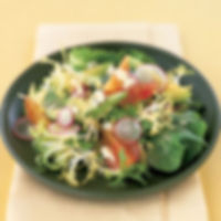 Mesclun Salad with Avocado, Radishes and