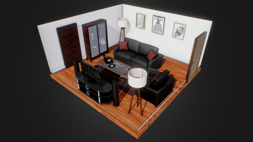 Living Room Sketchfab