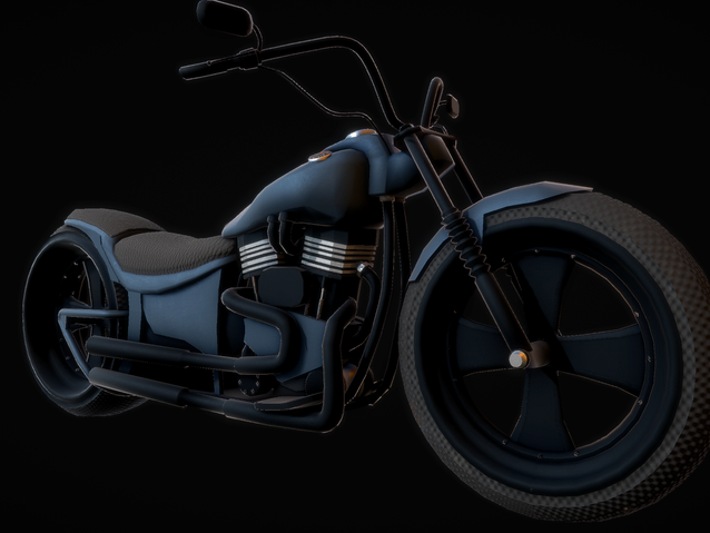 Sketchfab link, view in 3D: https://sketchfab.com/3d-models/harley-motorbike-3013d8c1163f45a4a66b1b6377931f42